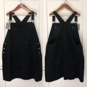ASOS Curve Black Denim Overall Dress 24W (UK26)